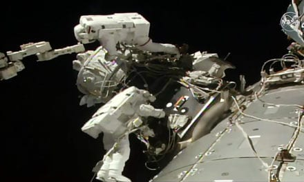 Spacewalking Astronauts Install Parking Spot for Private Spaceships at Space Station | Space