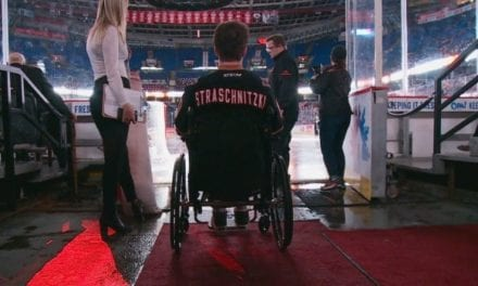 Former Bronco Ryan Straschnitzki returns to Humboldt for the first time after crash   CBC News