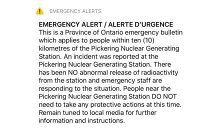 Ontario reports 'incident' at Pickering nuclear power station, emergency alert wakes shaken residents | Ottawa Citizen